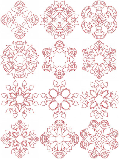 Geometric carnations and hearts he hennessy embroidery