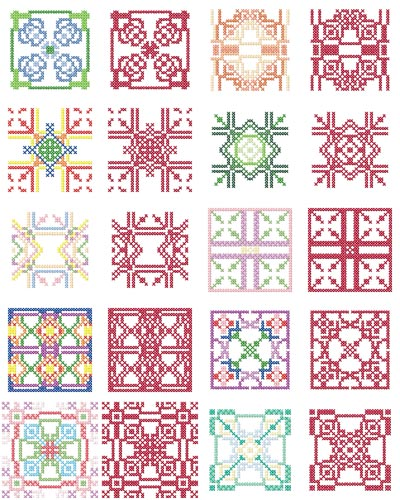 Geometric embroidery patterns free